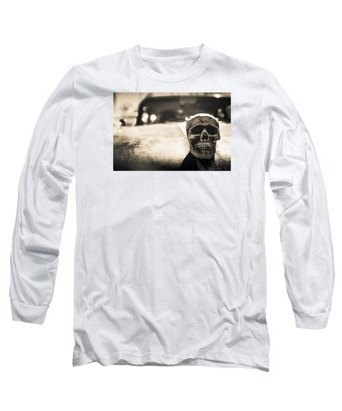 Long Sleeve T-Shirt featuring the photograph Skull Car by Lora Lee Chapman