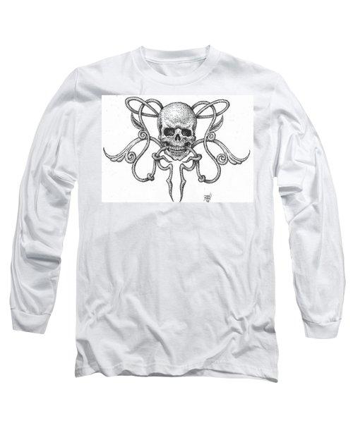 Skull Design Long Sleeve T-Shirt