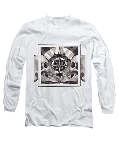 Skull Mandala Series Nr 1 Long Sleeve T-Shirt