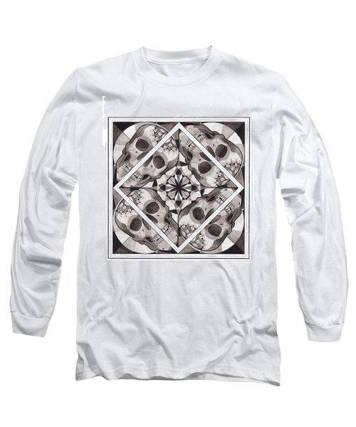 Skull Mandala Series Number Two Long Sleeve T-Shirt