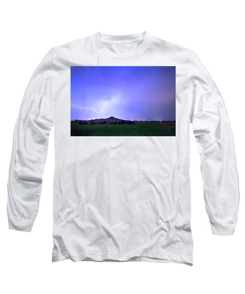 Long Sleeve T-Shirt featuring the photograph Sky Monster Above Haystack Mountain by James BO Insogna