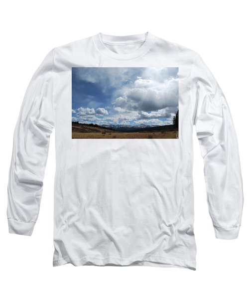 Sky Of Shrine Ridge Trail Long Sleeve T-Shirt by Amee Cave
