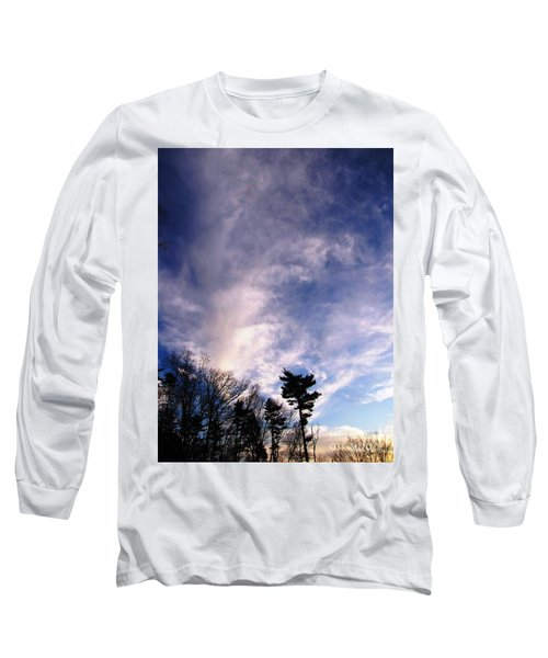 Sky Study 2 3/11/16 Long Sleeve T-Shirt by Melissa Stoudt