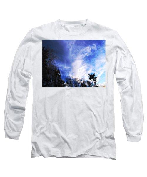 Sky Study 4 3/11/16 Long Sleeve T-Shirt by Melissa Stoudt