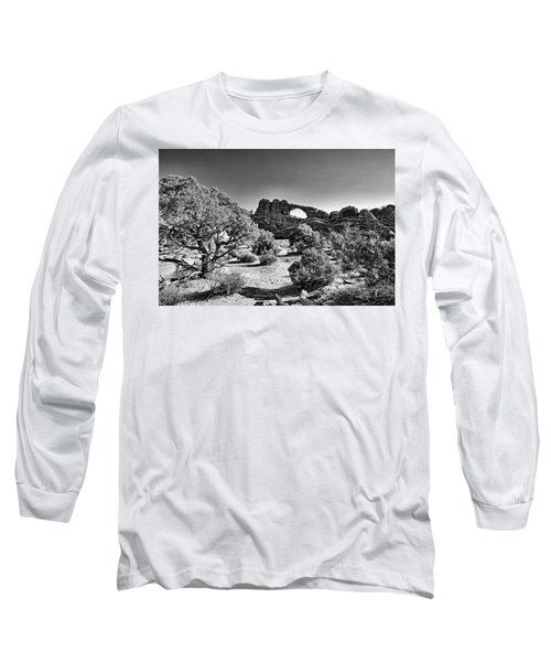Skyline Arch In Arches National Park Long Sleeve T-Shirt