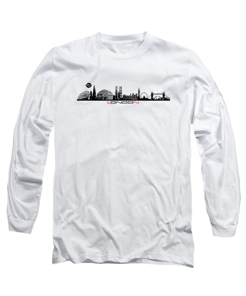 skyline city London black Long Sleeve T-Shirt