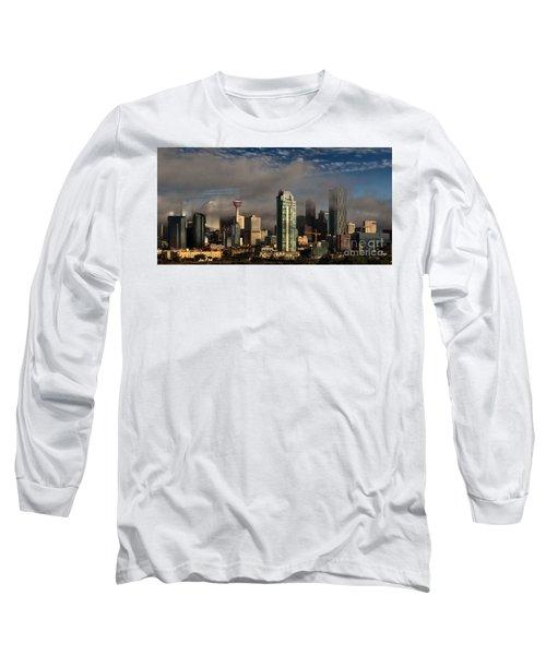 Skyline Fog Long Sleeve T-Shirt by Brad Allen Fine Art