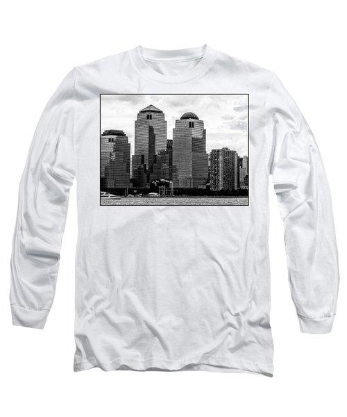 Skyline Nyc River View  Long Sleeve T-Shirt