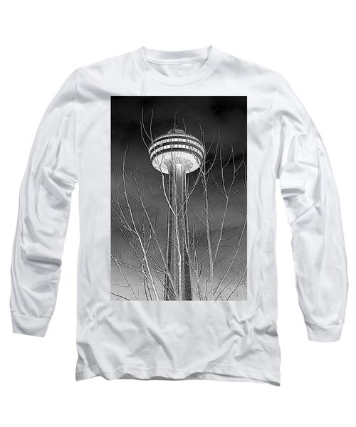 Long Sleeve T-Shirt featuring the photograph Skylon Tower by Valentino Visentini