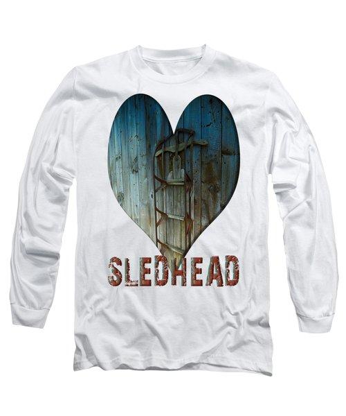Sledhead Long Sleeve T-Shirt by Mim White