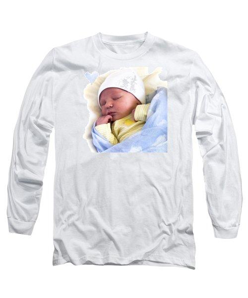Sleeping Babe Long Sleeve T-Shirt by Karen Lewis