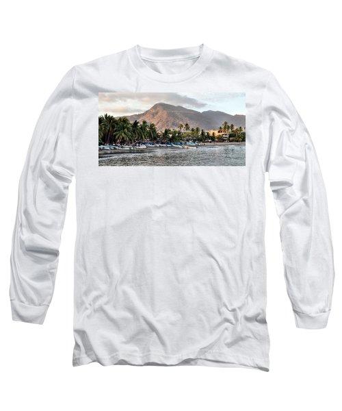Sleepy Fishing Village Long Sleeve T-Shirt