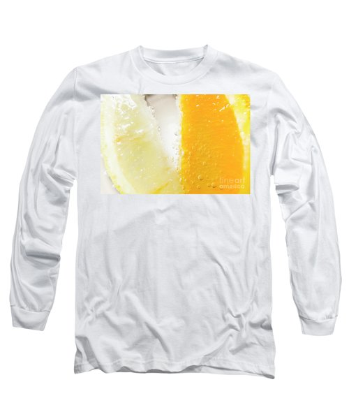 Slice Of Orange And Lemon In Cocktail Glass Long Sleeve T-Shirt