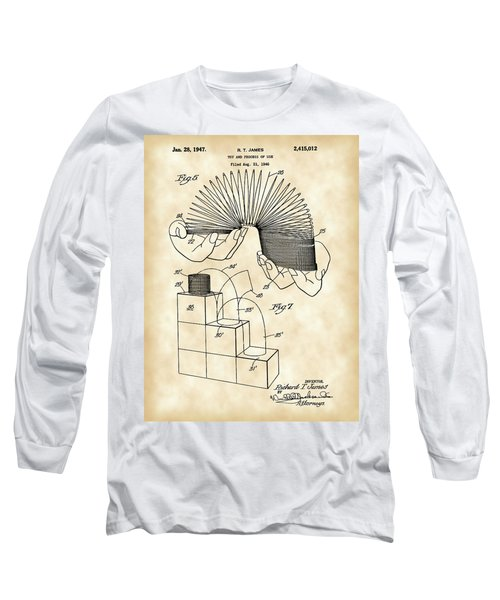Slinky Patent 1946 - Vintage Long Sleeve T-Shirt by Stephen Younts