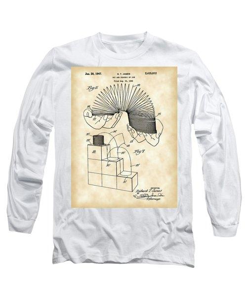 Slinky Patent 1946 - Vintage Long Sleeve T-Shirt