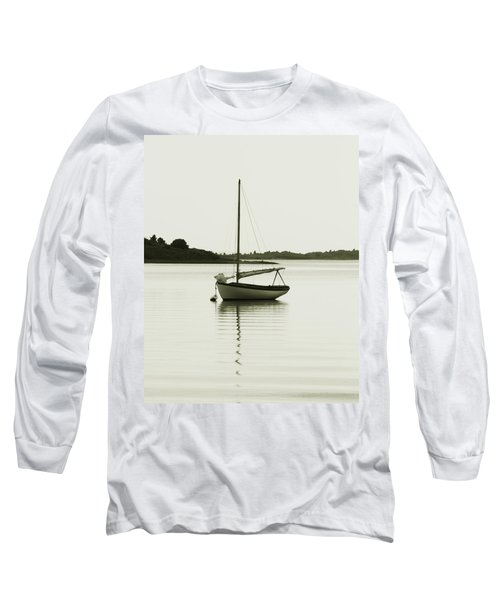 Long Sleeve T-Shirt featuring the photograph Sloop At Rest  by Roupen  Baker