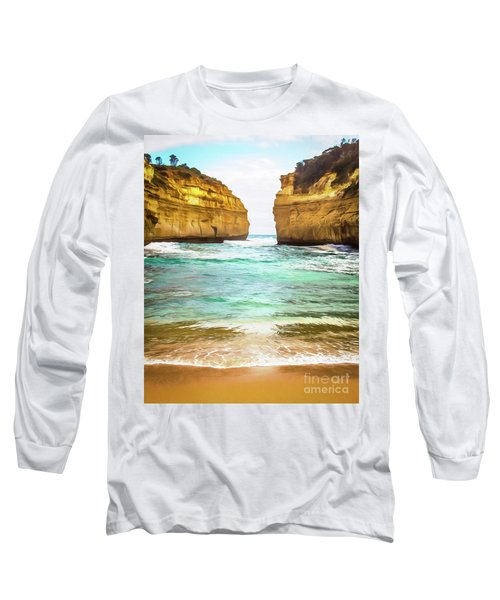 Long Sleeve T-Shirt featuring the photograph Small Bay by Perry Webster