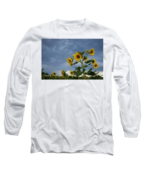 Small Sunflowers Long Sleeve T-Shirt
