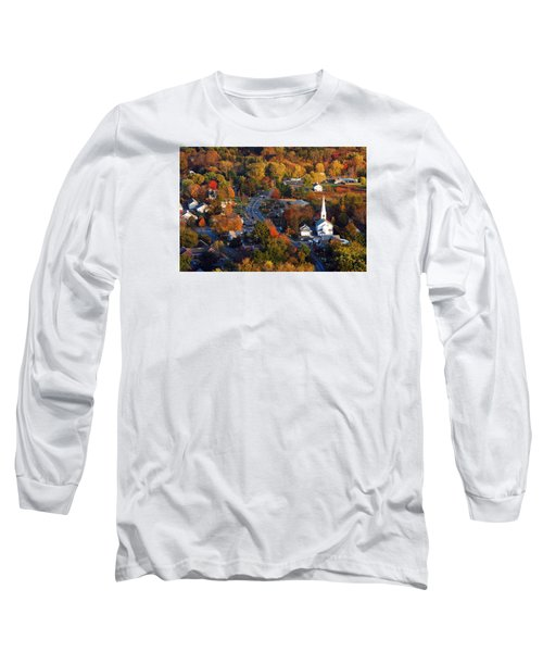 Small Town Aerial Long Sleeve T-Shirt by James Kirkikis