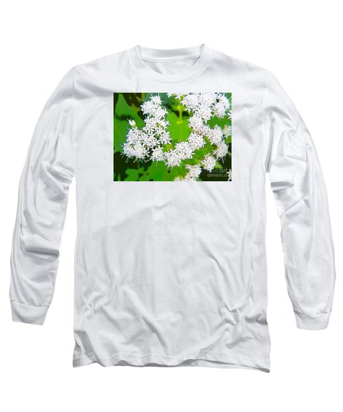 Small White Flowers Long Sleeve T-Shirt by Craig Walters