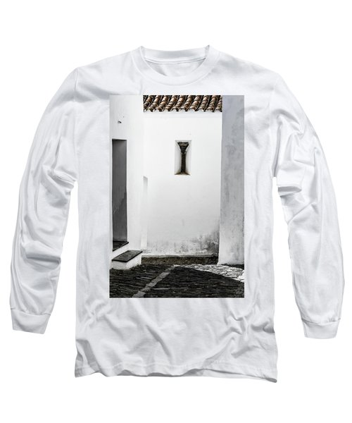 Long Sleeve T-Shirt featuring the photograph Small Window In White Wall by Edgar Laureano