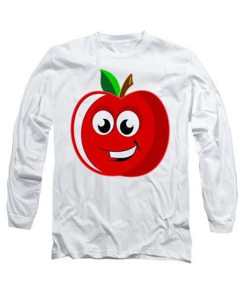 Smiley Tomato With Changeable Background  Long Sleeve T-Shirt by Sebastien Coell