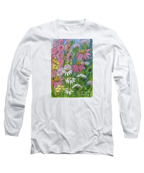 Smiling Flowers Long Sleeve T-Shirt
