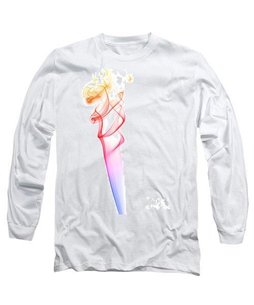 Long Sleeve T-Shirt featuring the photograph smoke XXXV by Joerg Lingnau