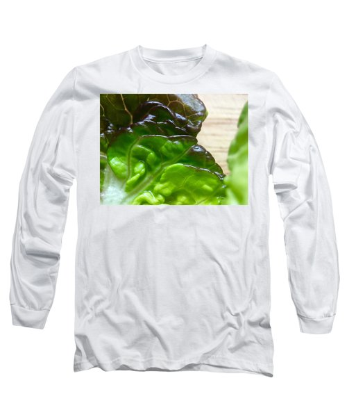 Smoked Prosciutto Open Sandwich Red Gem Lettuce Long Sleeve T-Shirt