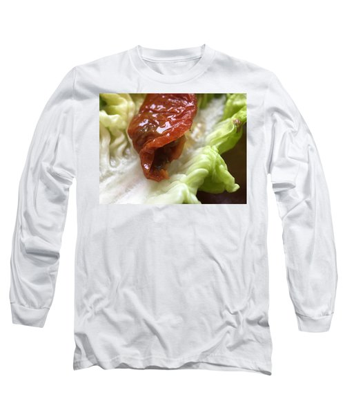 Smoked Prosciutto Open Sandwich Sun Dried Tomato Long Sleeve T-Shirt