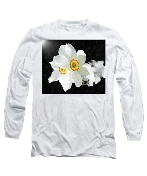 Smokey White Floral Long Sleeve T-Shirt