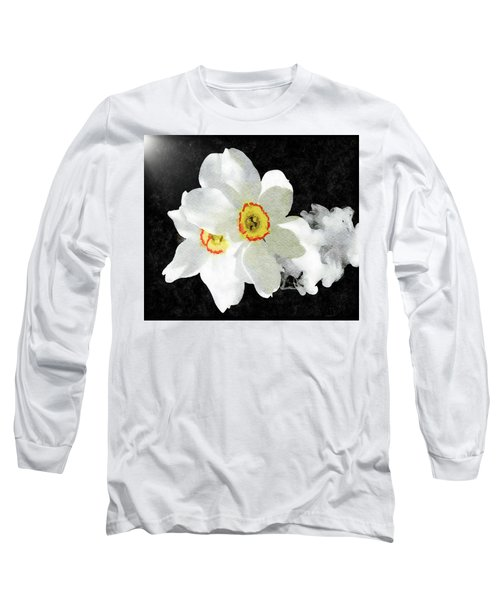 Smokey White Floral Long Sleeve T-Shirt