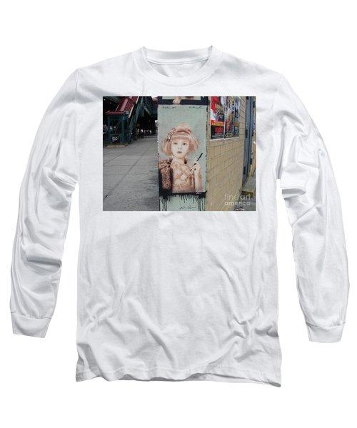Smoking Girl  Long Sleeve T-Shirt