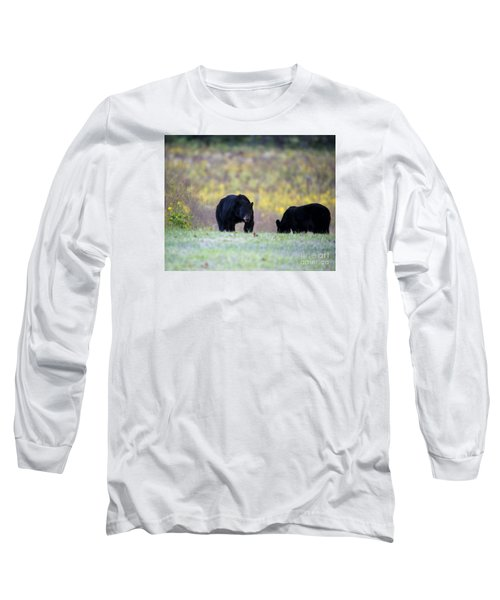 Smoky Mountain Black Bears Long Sleeve T-Shirt by Nature Scapes Fine Art