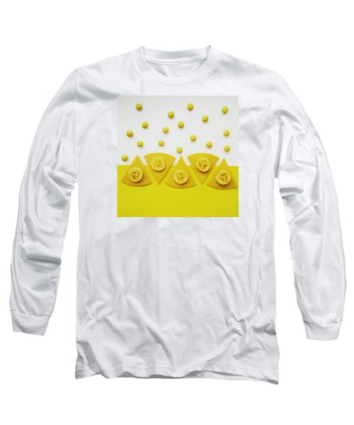 Yellow Snack Long Sleeve T-Shirt by Ann Foo