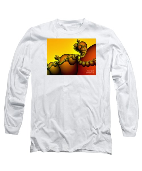 Long Sleeve T-Shirt featuring the digital art Snails Convoy by Karin Kuhlmann