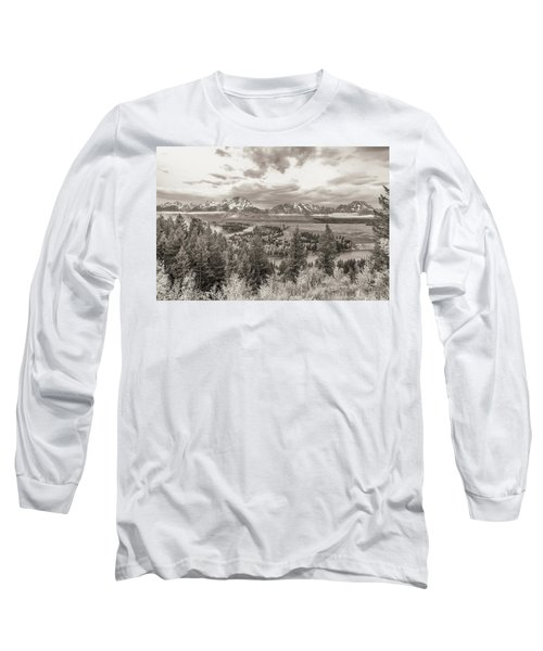 Snake River Overlook Grand Teton Long Sleeve T-Shirt