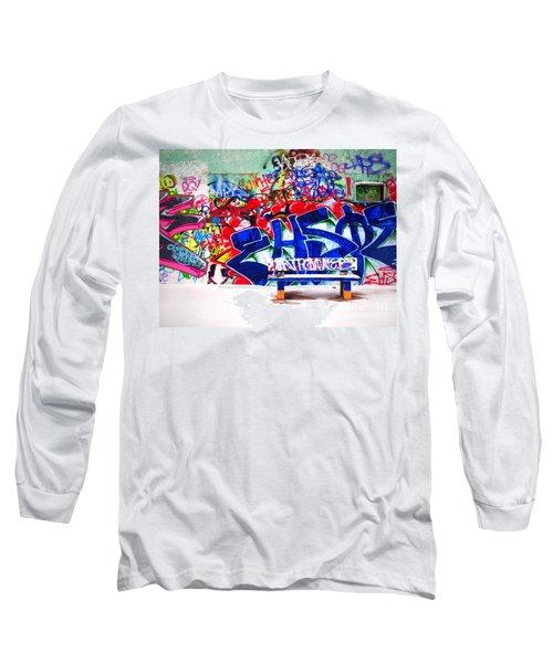 Snow And Graffiti Long Sleeve T-Shirt