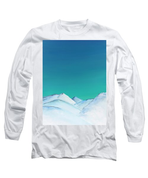 Snow Capped Mountains Long Sleeve T-Shirt