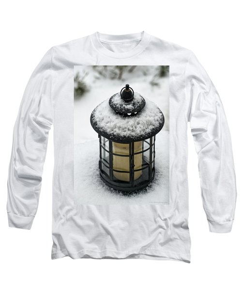 Snow Covered Lamp Long Sleeve T-Shirt by Phil Abrams
