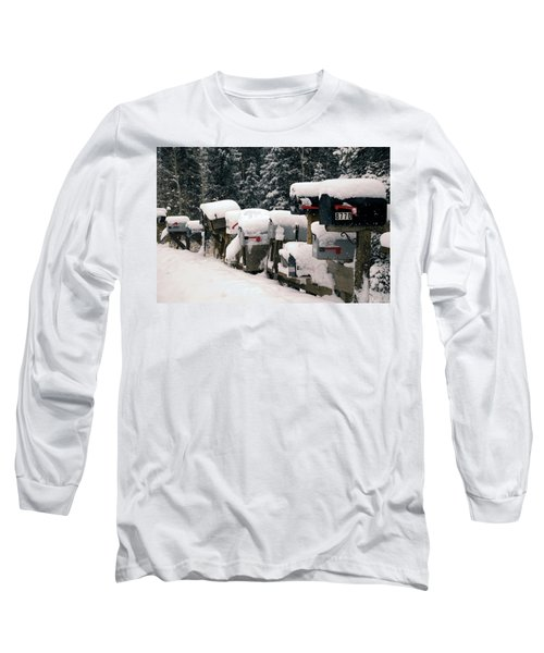 Snow Covered Mailboxes Long Sleeve T-Shirt