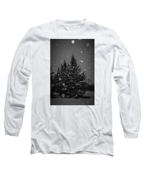 Long Sleeve T-Shirt featuring the photograph Snow Flakes by Annette Berglund