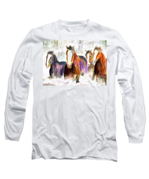 Snow Horses Long Sleeve T-Shirt