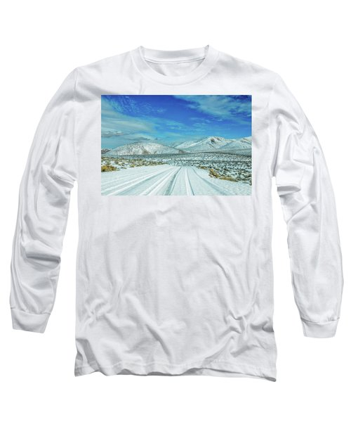 Long Sleeve T-Shirt featuring the photograph Snow In Death Valley by Peter Tellone