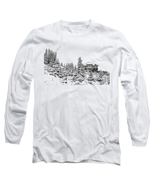 Long Sleeve T-Shirt featuring the photograph Snow In July 2 by Teresa Zieba