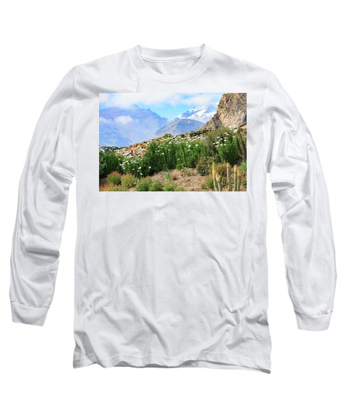 Long Sleeve T-Shirt featuring the photograph Snow In The Desert by David Chandler