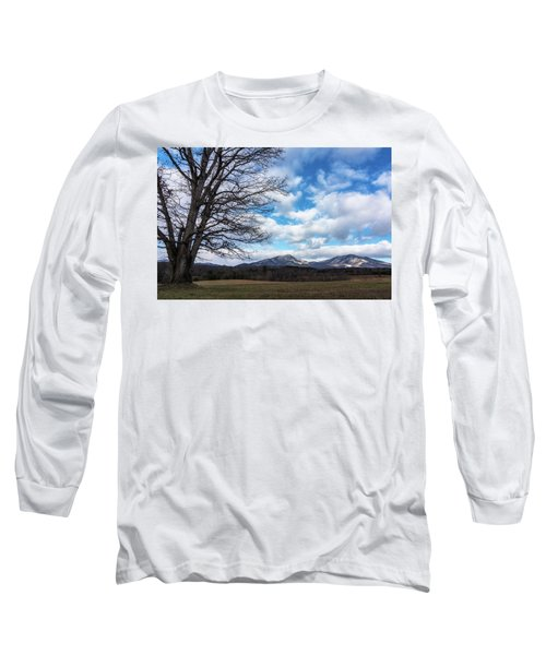 Snow In The High Mountains Long Sleeve T-Shirt by Steve Hurt