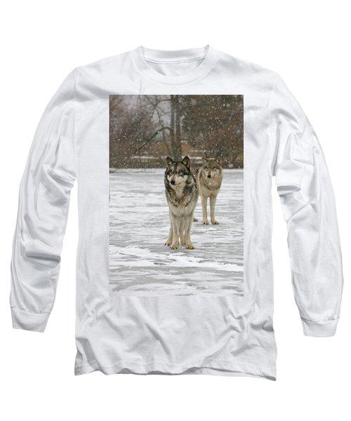 Snow Mates Long Sleeve T-Shirt by Shari Jardina