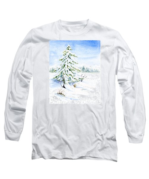 Snow On Evergreens Long Sleeve T-Shirt