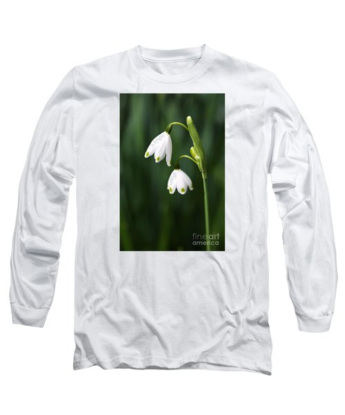 Snowdrops Painted Finger Nails Long Sleeve T-Shirt